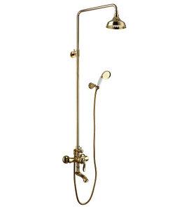 """LM4762G Серия BRAVA.Смеситель для ванны с верхней душевой лейкой """"Тропический дождь"""", золото"""