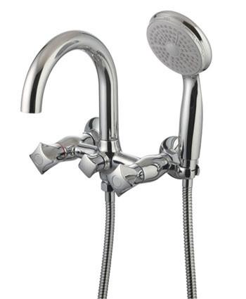 LM2602C Серия PALLADA. Смеситель для ванны с коротким изливом, с аксессуарами, хром