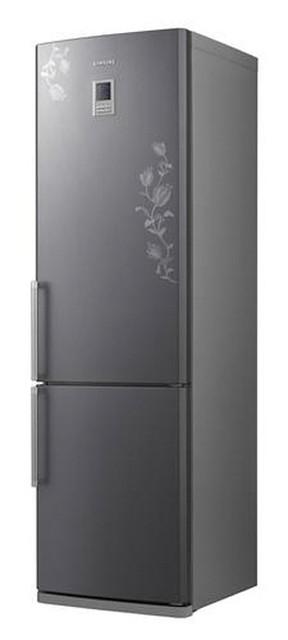 Холодильник двухкамерный серый с цветком SAMSUNG RL-44 ECPB Алматы