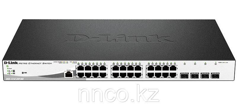 Управляемый коммутатор 2 уровня с 24 портами  DGS-1210-28P/ME/FTA1A
