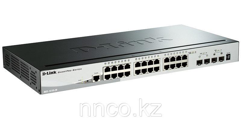Управляемый стекируемый коммутатор SmartPro с 24 портами DGS-1510-28/A1A