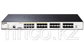 Управляемый стекируемый коммутатор уровня 2+ с 16 портами DGS-3120-24SC/B1AEI