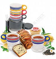 Набор посуды из 12 предметов с подставкой «ЧАЕПИТИЕ»