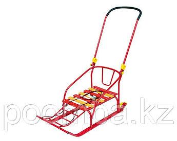 Санки детские Тимка 6 Комфорт с колесом, цвет: красный