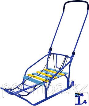 Санки детские Тимка 6 Комфорт с колесом, цвет: синий