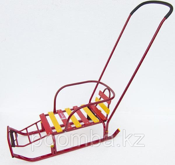 Санки детские Тимка 8 Комфорт с колесом, цвет: красный