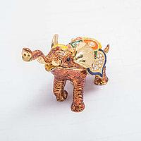 "Сувенир-шкатулка ""Индийский слоник"" 10*11см, фото 1"