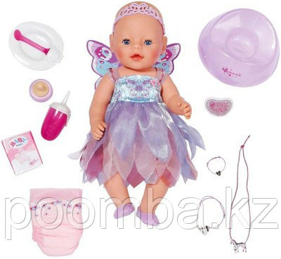 Интерактивная кукла Zapf Creation Кукла Baby Born Фея - Бэби Борн Фея Кукла 43 см