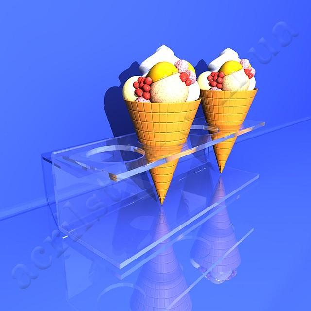 Подставки и подиумы для рожков и мороженого из акрила и оргстекла