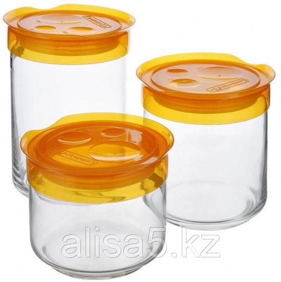 STORIHG BOX набор банок 3 шт. с оранжевой крышкой