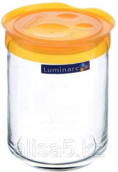 STORIHG JAR банка для сыпучих 1 л с оранжевой крышкой