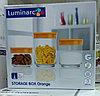 STORIHG BOX набор банок 3 шт. с оранжевой крышкой, фото 3