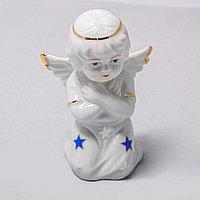 """Фарфоровая статуэтка """"Молящийся Ангел"""" (9см), фото 1"""