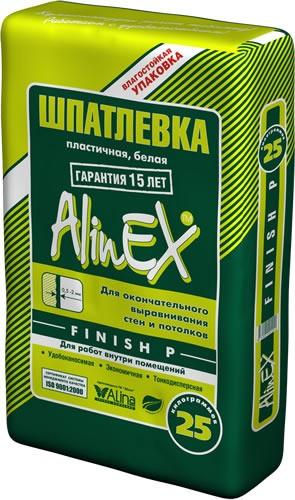 Финиш ВП (Alinex) 25кг для фасадного левкаса