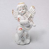 """Фарфоровая статуэтка """"Ангел со скрипкой"""" (7см), фото 1"""