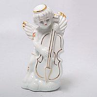 """Фарфоровая статуэтка """"Ангел с контрабасом"""" (11см), фото 1"""
