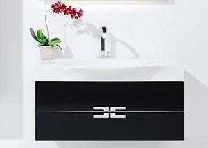 """""""Анкона"""" Тумба с умывальником Ancona 1000 подвесная, цвет черный, мебель для ванной"""