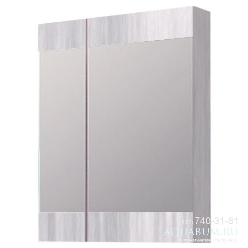 """""""Бриг""""шкаф-зеркало, цвет дуб седой, Br.04.06/Gray, ТМ «AQWELLA»"""