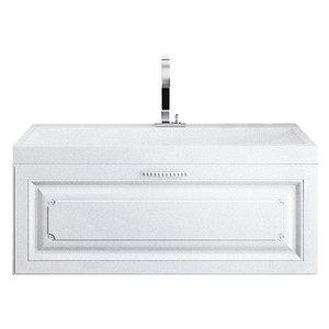 """""""Империя"""" Тумба с умывальником Infinity 800  подвесная, цвет белый, две части Emp.01.08/W, ТМ «AQWELLA»"""