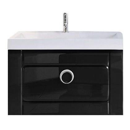 """""""Инфинити"""" Тумба с умывальником Infinity 600 подвесная с ящиком, цвет черный, две части Inf.01.06/001/BLK, ТМ"""