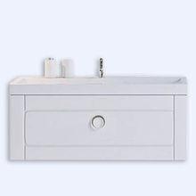"""""""Инфинити"""" Тумба с умывальником Infinity 1000 подвесная с ящиком, цвет белый, две части Inf.01.10/001, ТМ «AQW"""