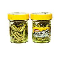 """Приманка """"Berkley PowerBait Sparkle Honey Worm, Yellow Scales"""""""