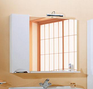 """Лайн"" панель с зеркалом,  светильником и шкафчиком Li.02.10, ТМ «AQWELLA»"