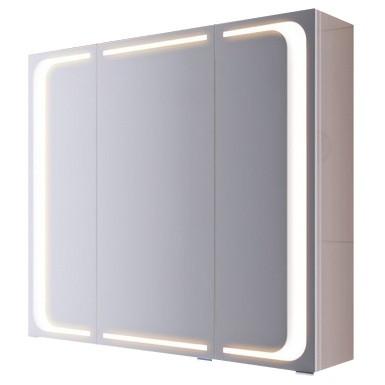 """Милан ""шкаф-зеркало со светильником, цвет белый Mil.04.08, ТМ «AQWELLA»"