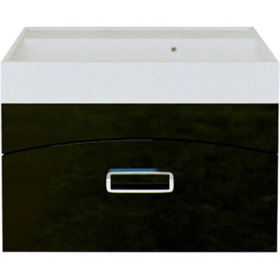 """""""Темпо"""" Тумба с умывальником Conform 700 подвесная,цвет черный, две части Tmp.01.07/BLK, ТМ «AQWELLA»"""