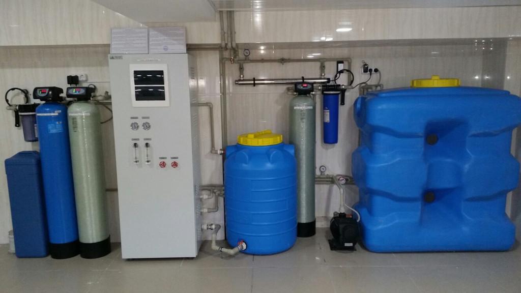 п.Косщи, частный дом. Система фильтрации производительностью 0,5 м3/час.