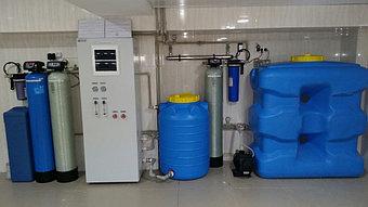 п.Косщи, частный дом. Система фильтрации производительностью 0,5 м3/час. 1