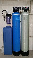 п.Косщи, частный дом. Система фильтрации производительностью 0,5 м3/час. 2