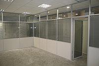 Комбинированные офисные перегородки из алюминиевого профиля