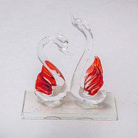 """Статуэтка из стекла """"Лебеди"""" (11см/10см), фото 1"""