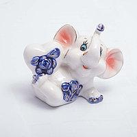 """Статуэтка керамическая """"Слоник с сердечком"""" 8*7 см, фото 1"""