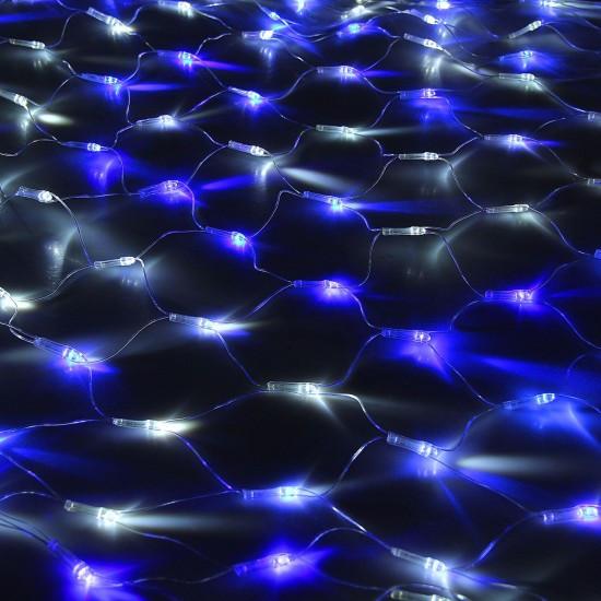 Гирлянда сетка 1,5х1,5м  синяя