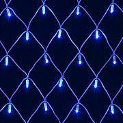 Электрогирлянда МЕРЦАЮЩАЯ СЕТКА 1000 синих LED огней 2*5м с контроллером