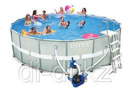 Каркасный сборный бассейн Intex Ultra Frame Pool.  + песочный фильтр-насос  549 х 132 см.