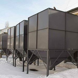 бункера для подачи твердого топлива