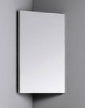 """""""Рио"""" шкафчик навесной угловой с зеркалом, для ванной комнаты"""