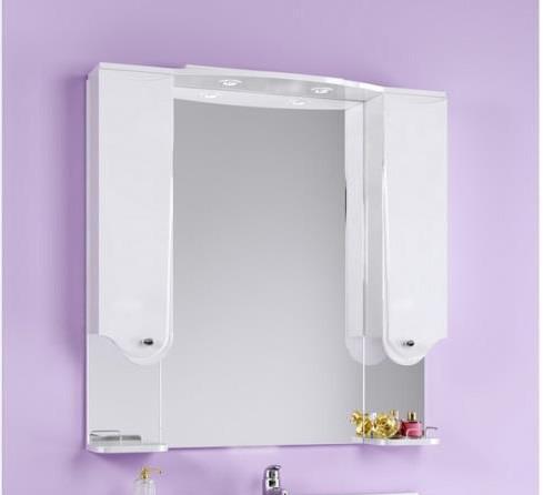 """""""Таврус"""" панель с зеркалом, шкафчиком и подсветкой, Tav.02.10, ТМ «AQWELLA»"""