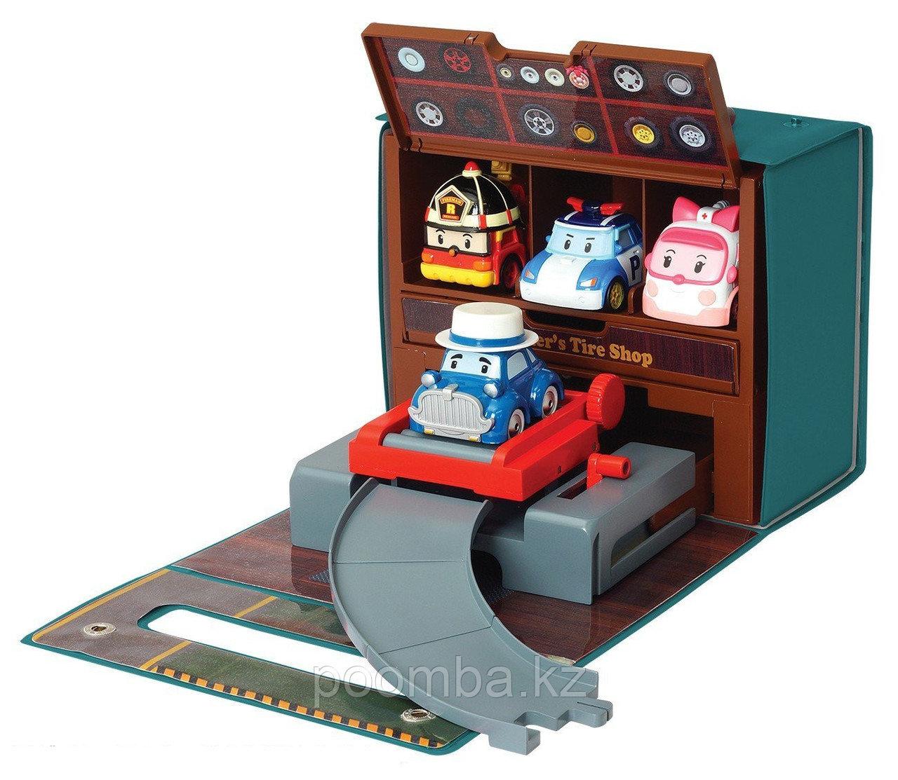 """Игровой набор Робокар Поли - """"Мастерская Уиллера"""""""