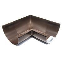 Угол наружный (внутренний) 45град. для желоба d=125 мм, RUPLAST (коричневый)