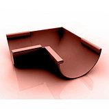 Угол наружный (внутренний) 45град. для желоба d=125 мм, RUPLAST (коричневый), фото 3