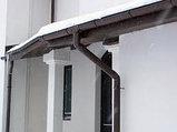Угол наружный (внутренний) 45град. для желоба d=125 мм, RUPLAST (коричневый), фото 4