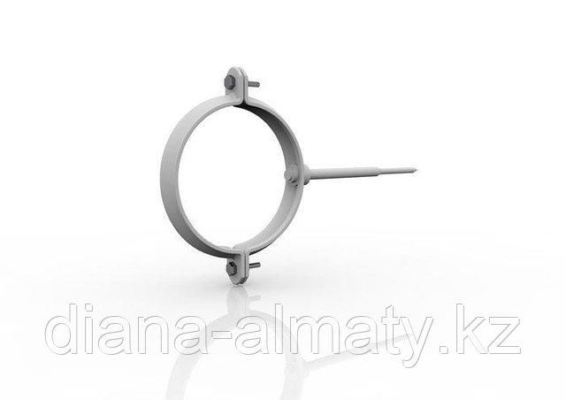 Хомут металлический. d=90 мм, RUPLAST (белый)