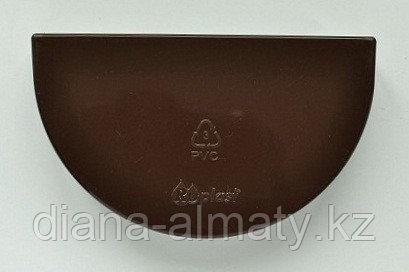 Заглушка желоба d=125 мм, RUPLAST (коричневый)