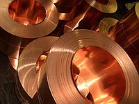 Медь холоднокатаная ленточная ширина 80 толщина 0.3 мм по ГОСТ 1173-06 металлическая цветная прокат