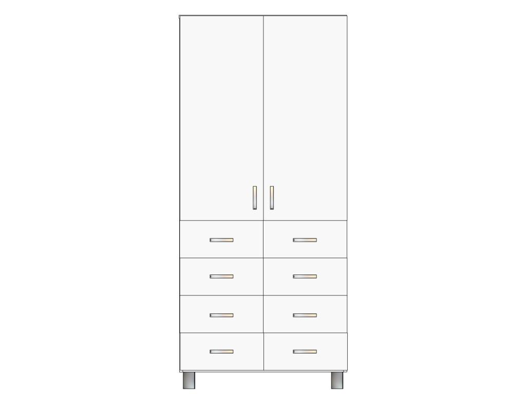 Пристенный шкаф с ящиками выдвижными для аптек