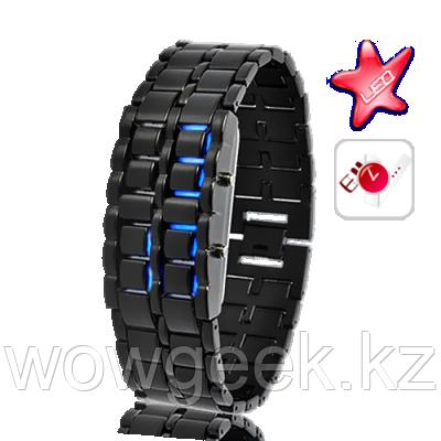 Светодиодные часы Черный самурай